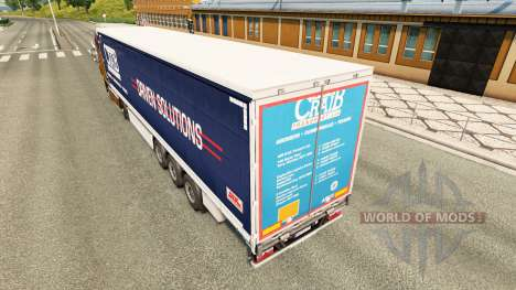 Skin ARR Craib Transport on semi-trailer curtain for Euro Truck Simulator 2
