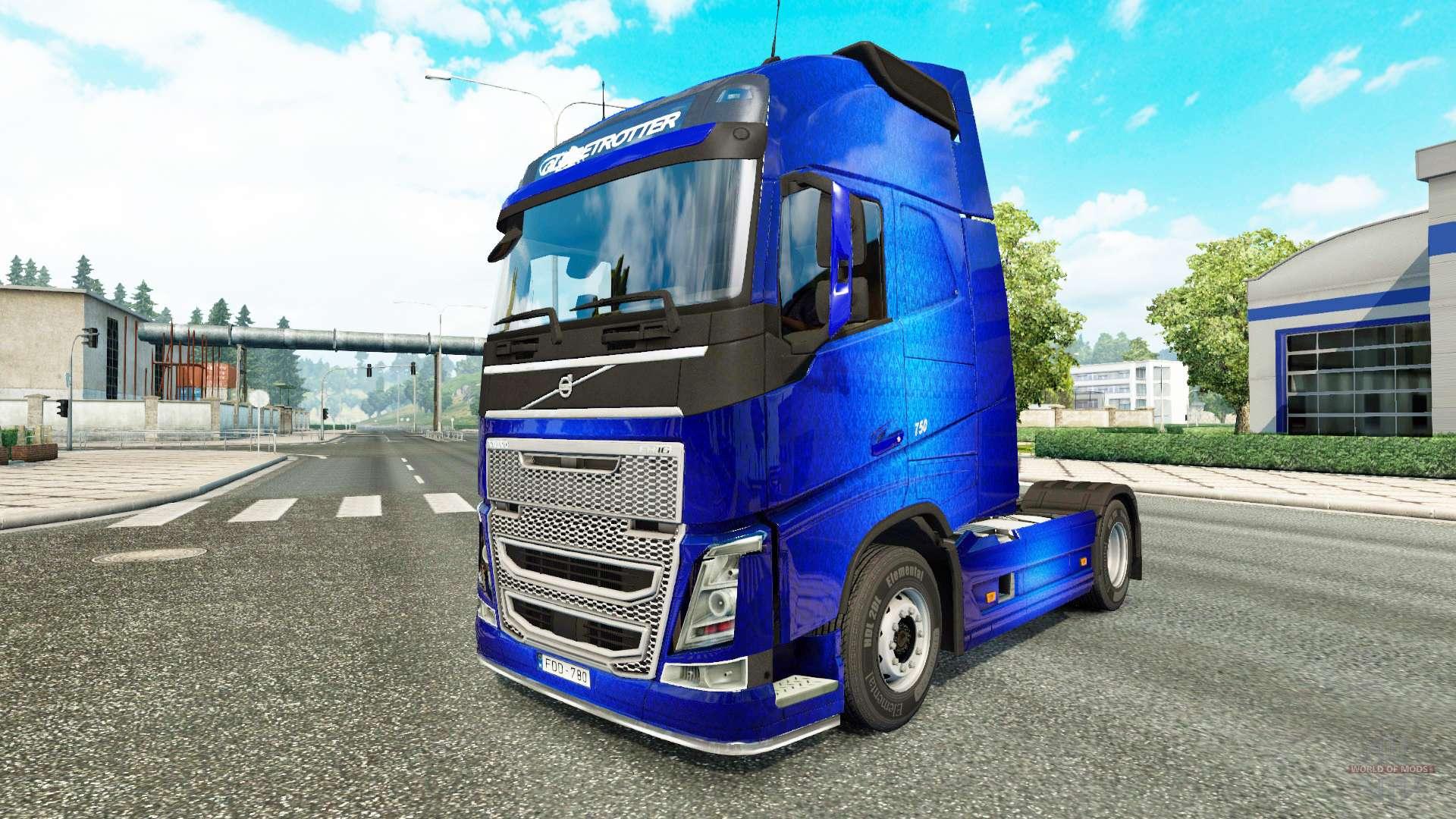 Volvo Skid Steer >> Fantastic Blue skin for Volvo truck for Euro Truck Simulator 2