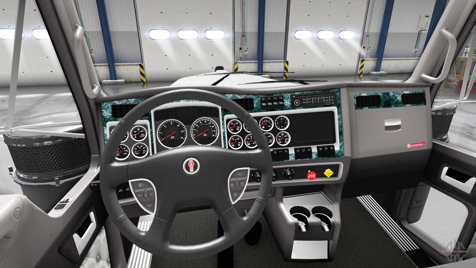 Interior Wood For Kenworth W900 For American Truck Simulator