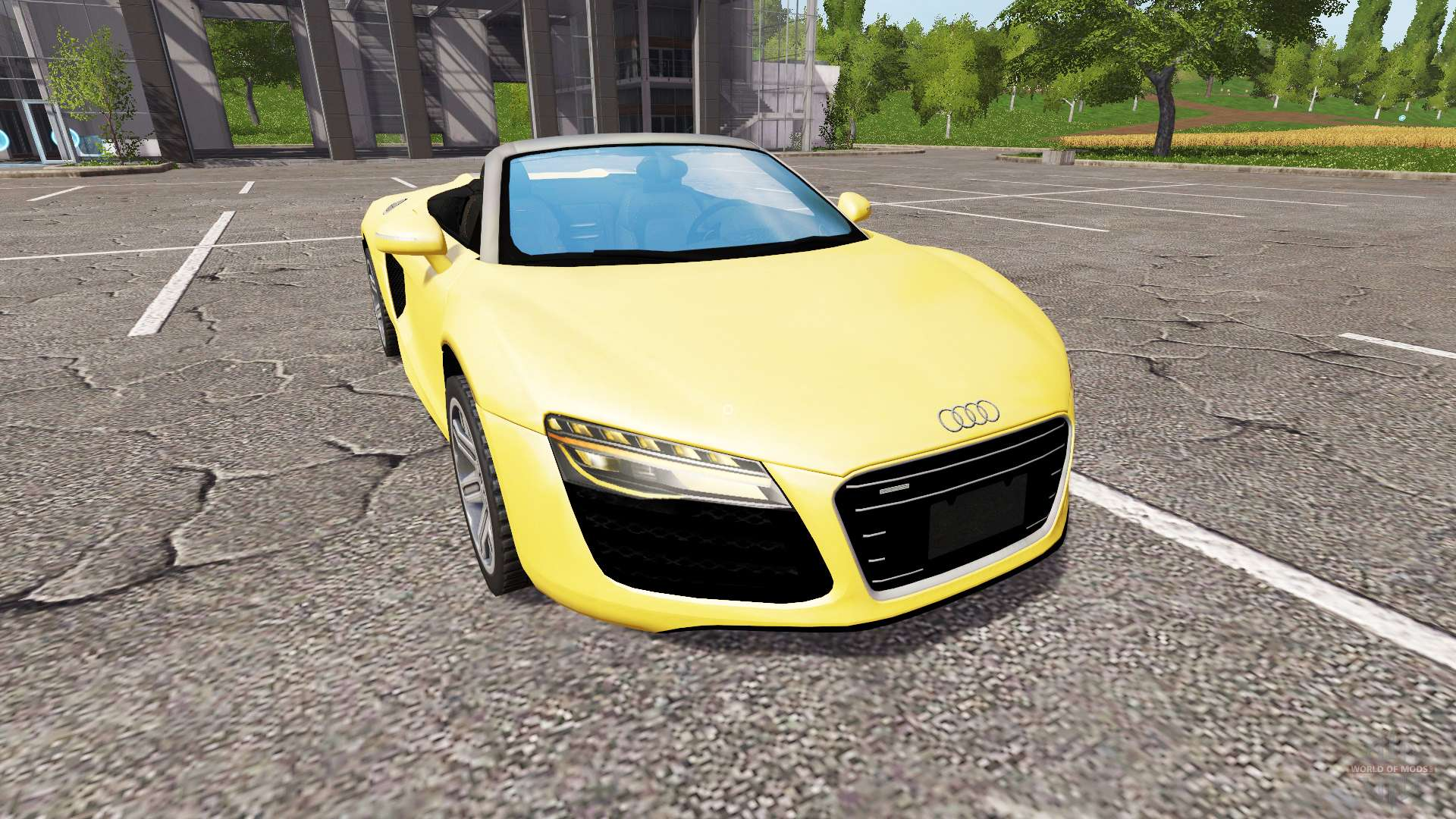 audi r8 v10 spyder for farming simulator 2017. Black Bedroom Furniture Sets. Home Design Ideas