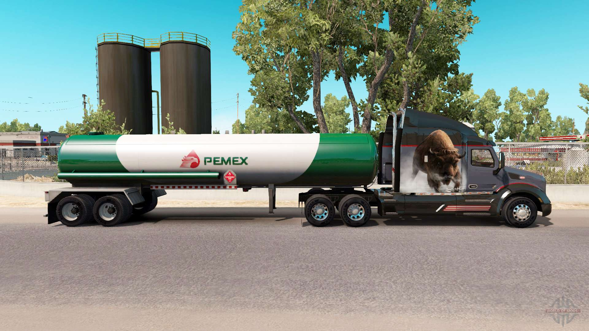 skin v3 pemex gas semi tank for american truck simulator. Black Bedroom Furniture Sets. Home Design Ideas