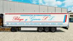 Skin Blaya Garcia y J. L. on a curtain semi-trailer for Euro Truck Simulator 2