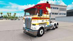 Скин White and Maroon Stripe на Kenworth K200