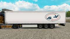 Skin Van Straalen De Vries curtain semi-trailer