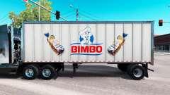 Skin Bimbo on the all-metal trailer
