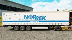 Skin Norrek on a curtain semi-trailer for Euro Truck Simulator 2