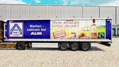 Skin Aldi Markt v2 on a curtain semi-trailer for Euro Truck Simulator 2