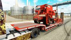 Low sweep with agricultural machinery for Euro Truck Simulator 2