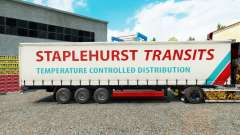 Staplehurst Transits skin on the trailer curtain for Euro Truck Simulator 2