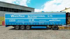 Skin White Trux on a curtain semi-trailer
