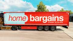 Skin Home Bargains on curtain semi-trailer for Euro Truck Simulator 2