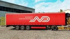 Norbert Dentressangle skin for curtain semi-trailer for Euro Truck Simulator 2