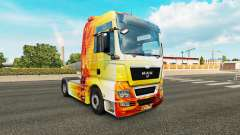 Flame skin for MAN truck