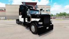 Skin White Z Stripe on the truck Peterbilt 389