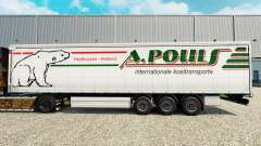 Skin A. Pouls on a curtain semi-trailer