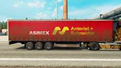 Skin Asimex on a curtain semi-trailer for Euro Truck Simulator 2