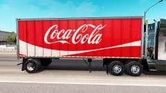 Skin Coca-Cola metal semi-trailer