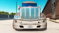 The bumper on the Peterbilt 579 tractor