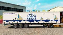 Trio Trans skin on the trailer curtain for Euro Truck Simulator 2