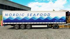 Skin Nordic Seafood on a curtain semi-trailer for Euro Truck Simulator 2
