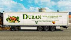 Skin Duran on a curtain semi-trailer for Euro Truck Simulator 2