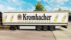 Skin Krombacher on a curtain semi-trailer