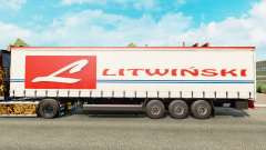 Skin Litwinski on a curtain semi-trailer