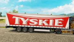 Skin Tyskie on a curtain semi-trailer for Euro Truck Simulator 2