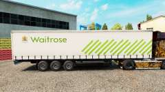 Skin Waitrose on a curtain semi-trailer for Euro Truck Simulator 2