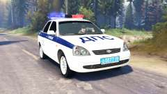 LADA Priora Police DPS (VAZ-2170) v2.0 for Spin Tires