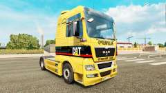 The skin of the Caterpillar tractor MAN for Euro Truck Simulator 2