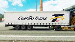 Skin Castillo Trans on a curtain semi-trailer for Euro Truck Simulator 2
