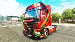 Red Effect skin for DAF truck