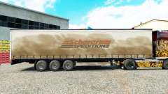 Skin Spedition Scherer on a curtain semi-trailer for Euro Truck Simulator 2