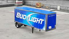 Skin Bud Light metal on the trailer for American Truck Simulator
