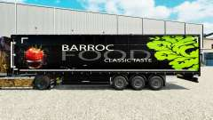 Skin Barroc Food on a curtain semi-trailer