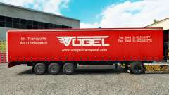 Skin Vogel on a curtain semi-trailer