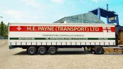 Skin H. E. Payne Transport on semi-trailer curta