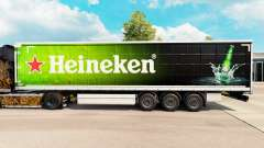 Skin Heineken for curtain semi-trailer