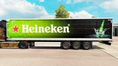 Skin Heineken for curtain semi-trailer