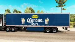 Corona Extra skin on the reefer trailer