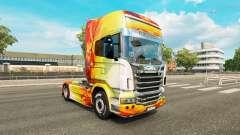 Flame skin for Scania truck for Euro Truck Simulator 2