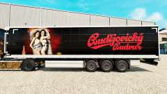 Skin Budweiser on a curtain semi-trailer for Euro Truck Simulator 2
