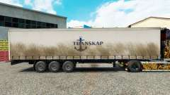 Skin Transkap on a curtain semi-trailer