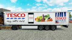 Skin Tesco curtain semi-trailer