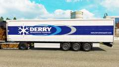 Skin Derry on a curtain semi-trailer