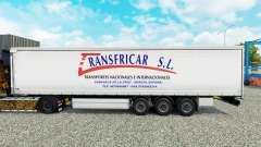 Skin Transfricar S. L. curtain semi-trailer