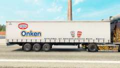 Skin Dr. Oetker Onken on a curtain semi-trailer for Euro Truck Simulator 2