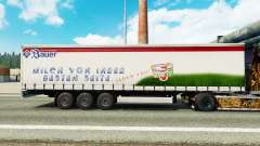 Skin Bauer on a curtain semi-trailer for Euro Truck Simulator 2
