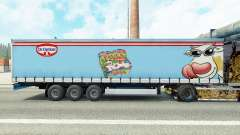 Skin Dr. Oetker Paula on a curtain semi-trailer for Euro Truck Simulator 2
